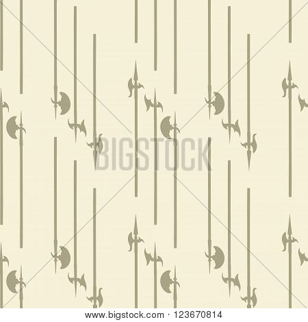 Historical halberd silhouettes pattern. Weapons pattern is perfect for textile design web background web design wallpapers and notebook wrappings.