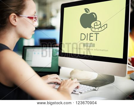 Diet Health Eating Nutrition Measure Concept