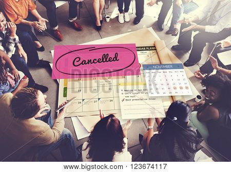 Cancel Appointment Planner Ignore Concept