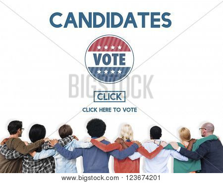 Candidates Nominee Vote Leader Campaign Concept
