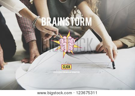Brainstorm Brainstorming Meeting Planning Sharing Concept