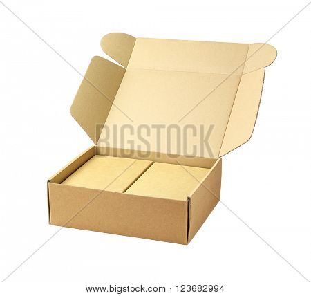 Cardboard Package Boxes on White Background