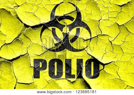 Grunge cracked Polio concept background with some soft smooth lines