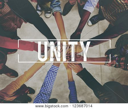 Unity Cooperation Community Support Union Concept
