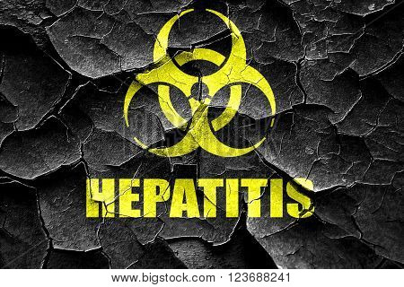 Grunge cracked Hepatitis virus concept background with some soft smooth lines
