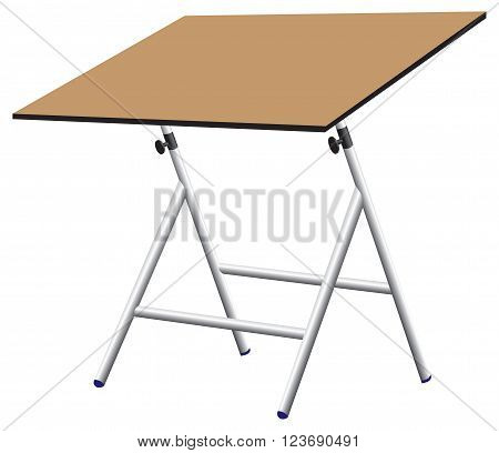 Compact drawing board with a rotating worktop.