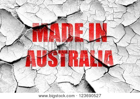 Grunge cracked Made in australia with some soft smooth lines