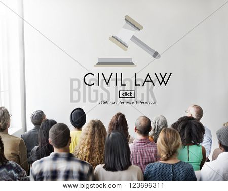 Civil Law Common Justice Legal Regulation Rights Concept