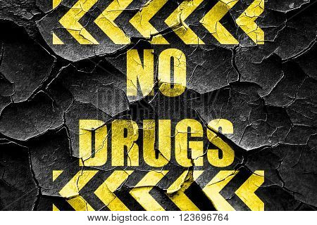 Grunge cracked No drugs sign with some vivid colors