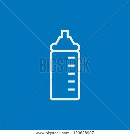 Feeding bottle line icon.