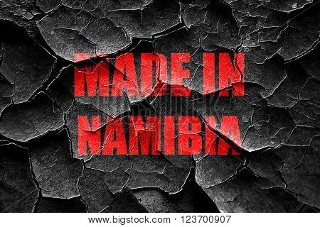 Grunge cracked Made in namibia with some soft smooth lines