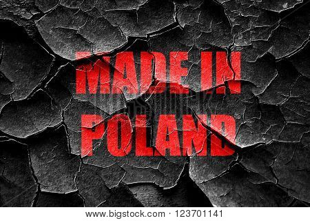 Grunge cracked Made in poland with some soft smooth lines