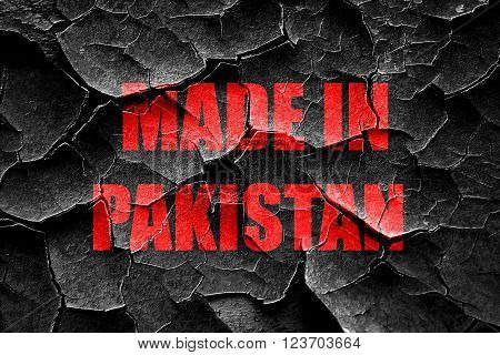 Grunge cracked Made in pakistan with some soft smooth lines