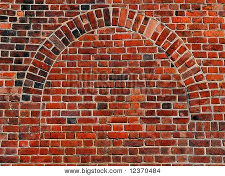 Brick wall from a red brick