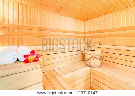 Beautiful Dry Finnish Sauna For Spa Treatments