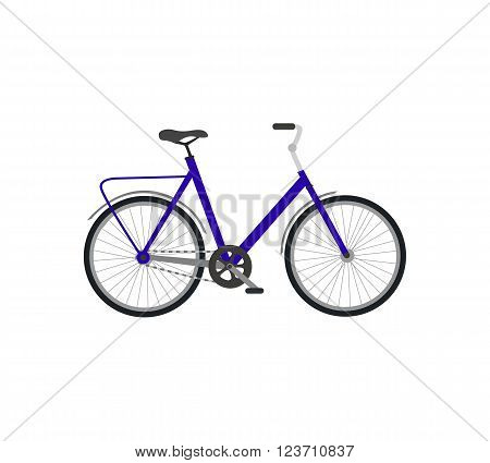 Bicycle icon design flat isolated. Bike and bycicle, cycling race sport. Mountain bicycle, travel bicycle vector illustration