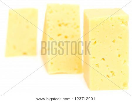 Cheese Cubes On White