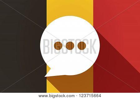 Long Shadow Belgium Flag With A Comic Balloon