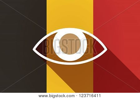 Long Shadow Belgium Flag With An Eye