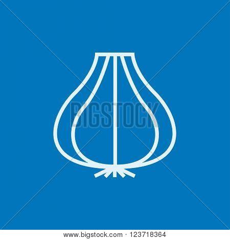 Garlic line icon.