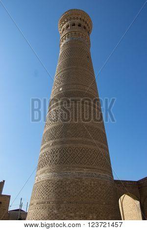 Kalyan Minaret old town of Bukhara Uzbekistan Silk Road March 2016