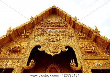 Thai Northern Style Golden Temple Wat Si Pan Ton - Nan Thailand