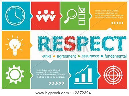 Respect Design Illustration Concepts For Business, Consulting, Management, Career.