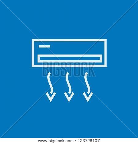 Air conditioner line icon.