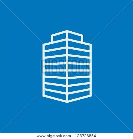 Office building line icon.