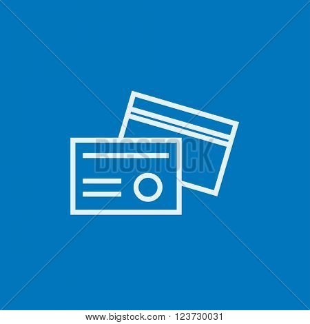 Identification card line icon.