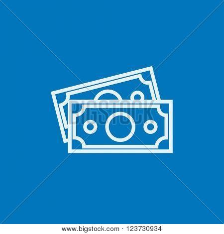 Money banknotes line icon.