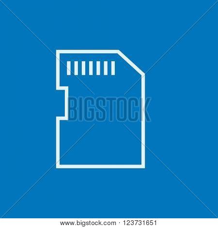 Memory card line icon.