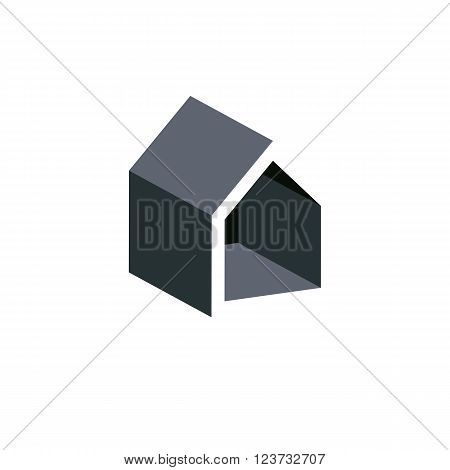 Property Developer Conceptual Business Icon, Real Estate Emblem.  Building Modeling And Engineering