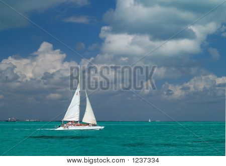 A Sailing Boat Nare A Beach Resort