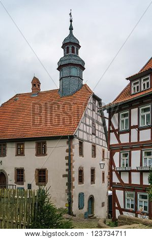 building of Town Hall (Rathaus) in Schlitz Germany