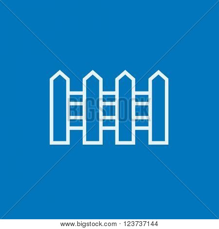 Fence line icon.