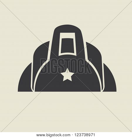 Duffle sport bag icon. Flat vector illustration.