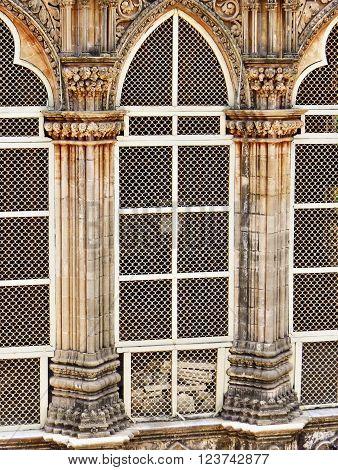 Window craftmanship of Mahabat Tomb placed in Junagadh city, Gujarat.