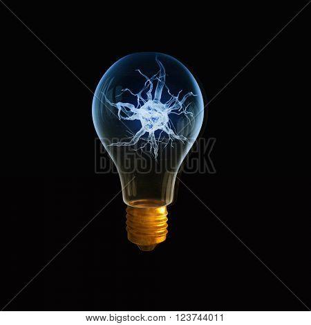 Nerve in light bulb