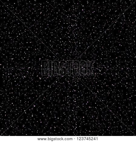 seamless vector Realistic image of the night sky with stars and galaxies. 1