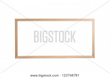 Blank Of Wooden Frame Isolated On White