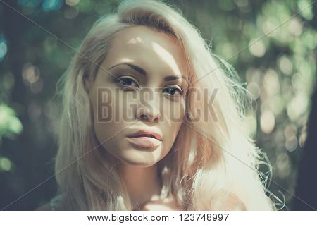 Beautiful Lady On The Nature