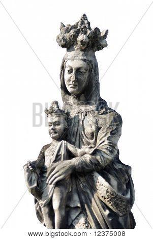 madonna on white background