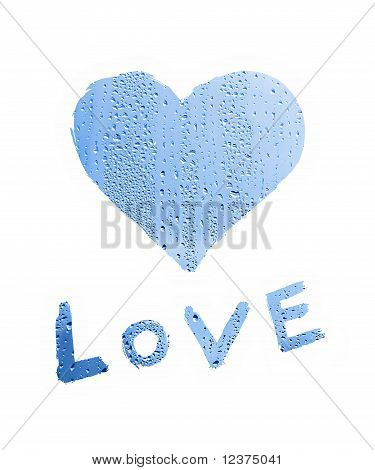 Word ''love'' With Heart Symbol