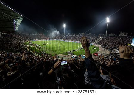 View Of The Toumba Stadium Full Of Fans Of Paok