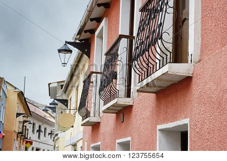 Colonial architecture in Potosi, Bolivia, South America ** Note: Visible grain at 100%, best at smaller sizes