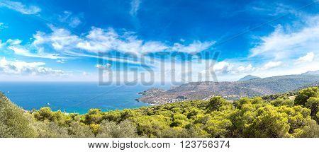 Panoramic Landscape Of Aegina Island