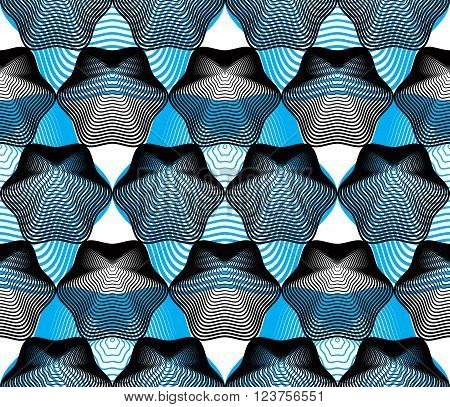Ornate vector colorful abstract background with graphic lines. Symmetric decorative overlay pattern geometric kaleidoscope illustration.