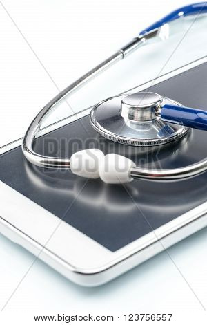 Medical Research,digital tablet and stethoscope, Doctor's Office