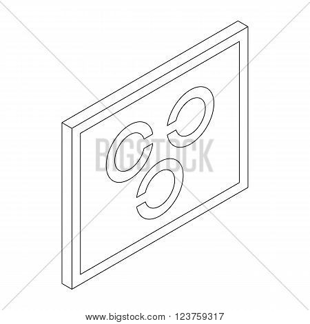 Eye test chart icon in isometric 3d style isolated on white background